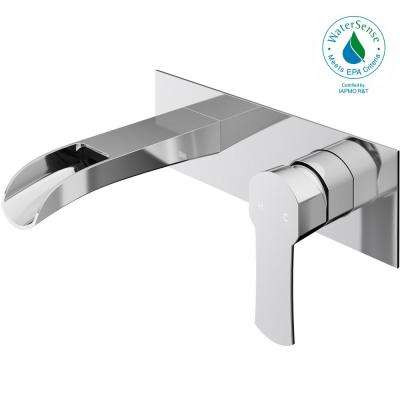 Cornelius Single-Handle Wall Mount Bathroom Faucet in Chrome