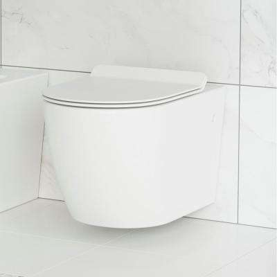 St. Tropez Wall Hung Toilet Bowl 0.8/1.28 GPF Dual Flush Elongated in White