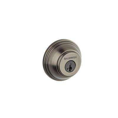 Prestige Single Cylinder Slate Round Deadbolt