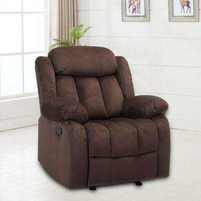 Anders Chocolate Fabric Recliner