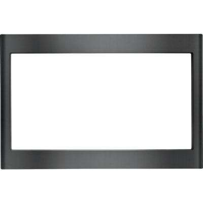 27 in. Microwave Trim Kit in Black Stainless Steel