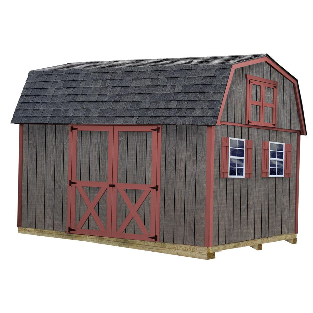 Meadowbrook 10 ft. x 12 ft. Wood Storage Shed Kit with