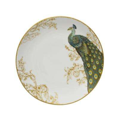 Serene Peacock 16-Piece Dinnerware Set