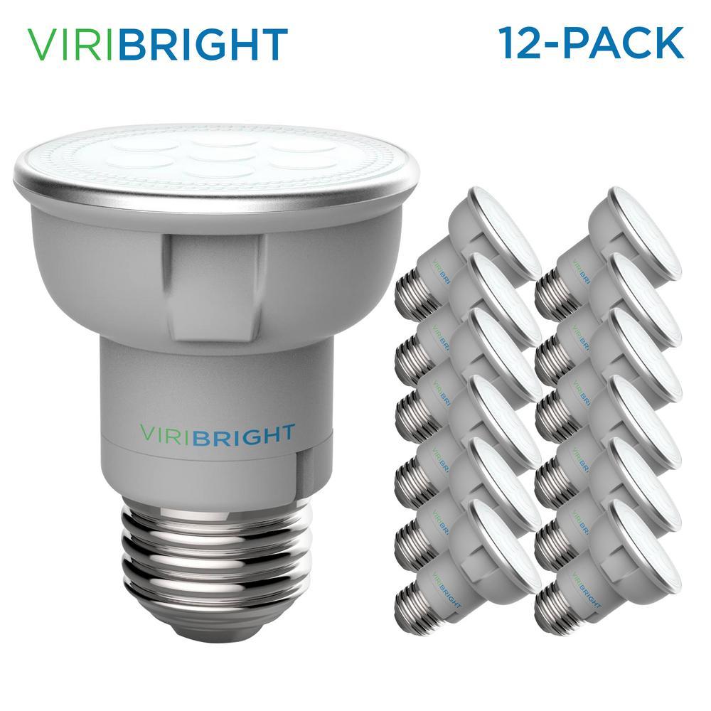 50-Watt Equivalent (2,700K) PAR16 Non-Dimmable E26 Base Spotlight LED Light Bulb Warm White (12-Pack)