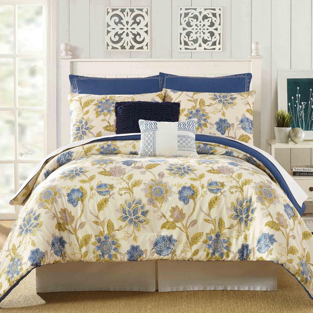 Monterey 7-Piece Multicolored King Comforter Set