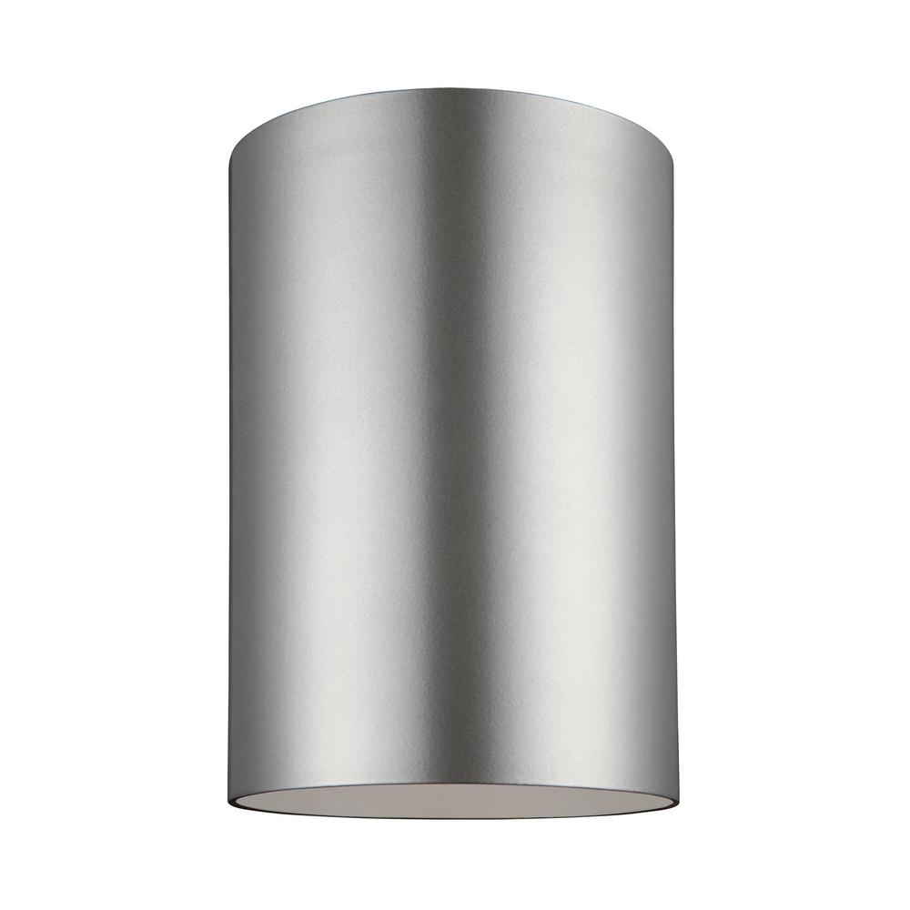 Sea gull lighting outdoor cylinders brushed nickel 1 light outdoor sea gull lighting outdoor cylinders brushed nickel 1 light outdoor wall lantern with led bulb aloadofball Images