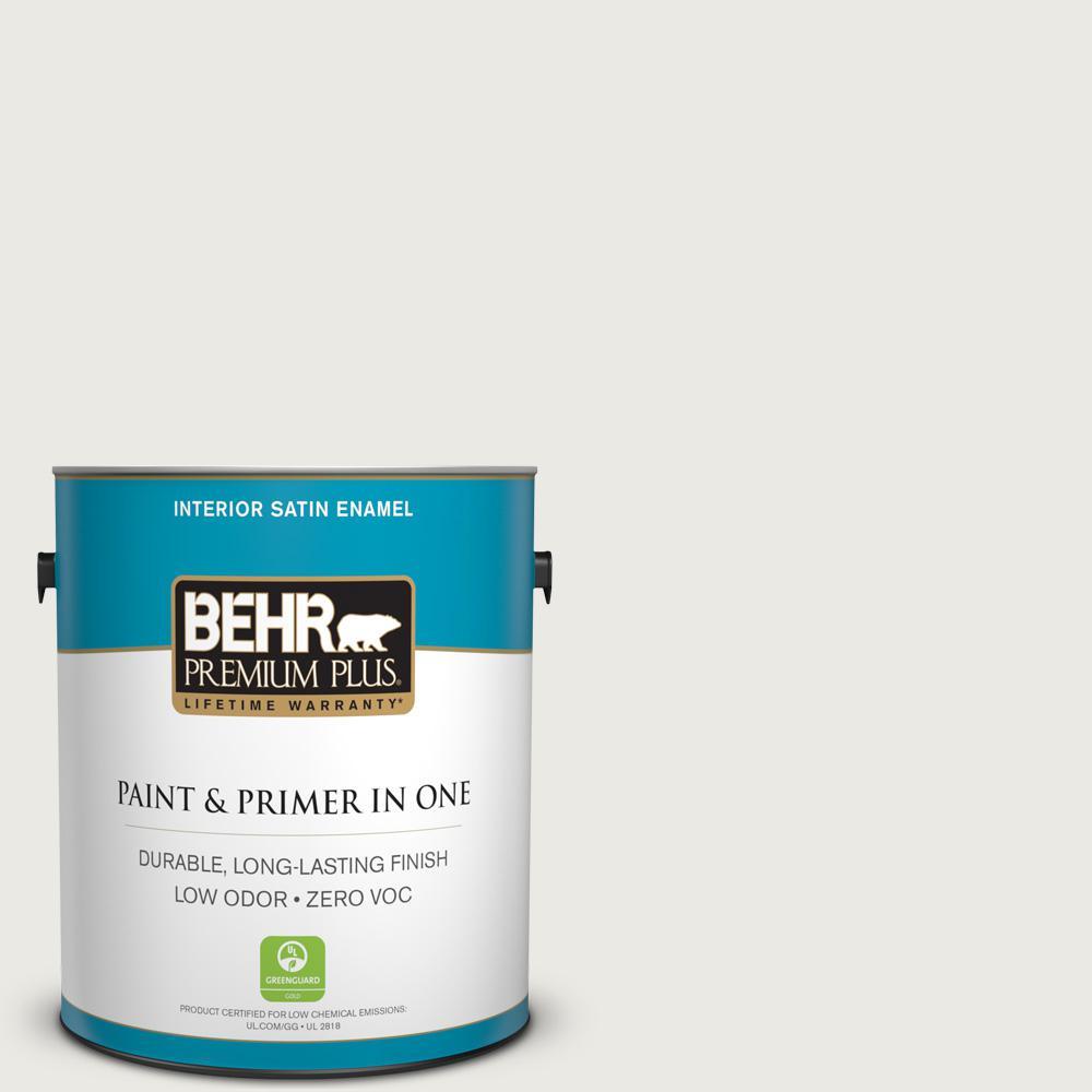 1 gal. #PPU24-14 White Moderne Zero VOC Satin Enamel Interior Paint