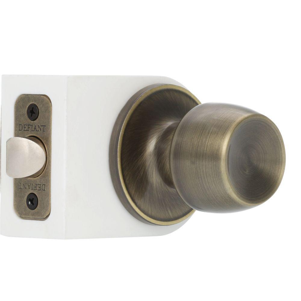 Brandywine Antique Brass Passage Hall/Closet Door Knobset