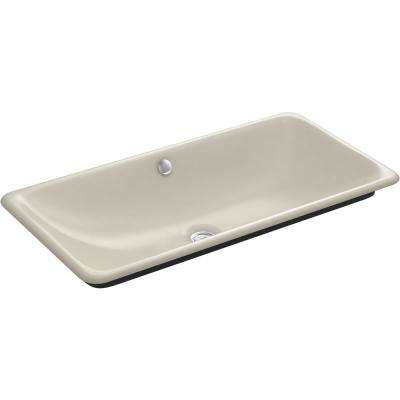 Iron Plains 30 in. Drop-In Bathroom Sink in Sandbar with Iron Gate Painted Underside