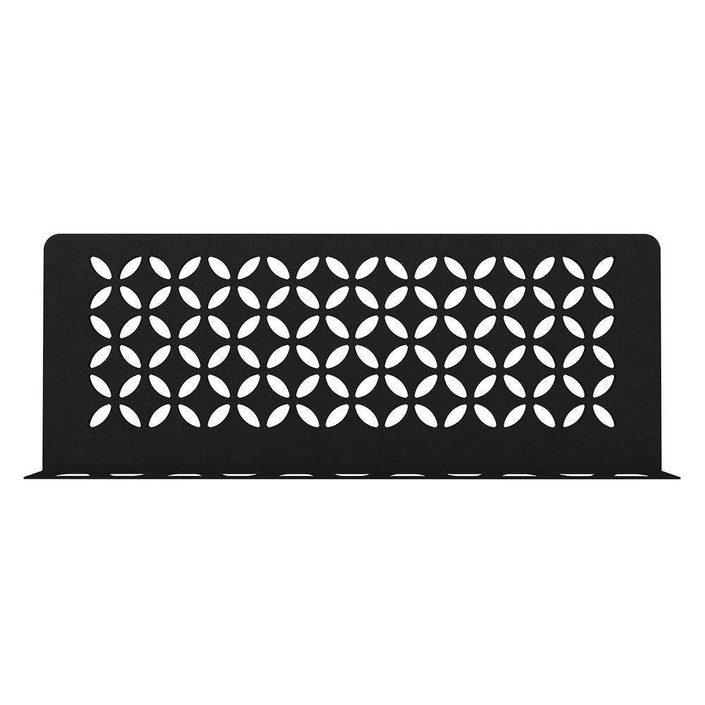 Shelf-W Matte Black Color-Coated Aluminum Floral Wall Shelf