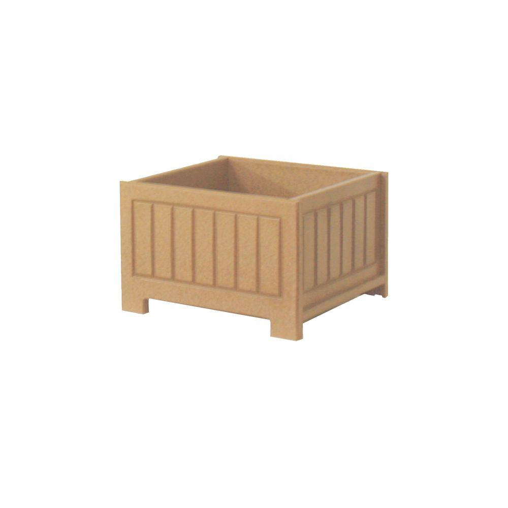 Catalina 17 in. x 17 in. Cedar Recycled Plastic Commercial Grade