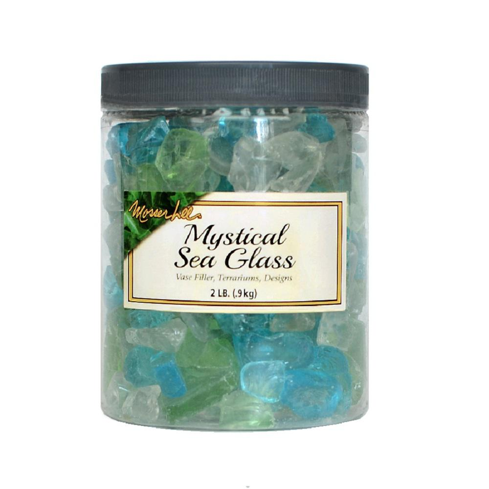 Mosser Lee 2 lb. Mystical Sea Glass in Storage Jar