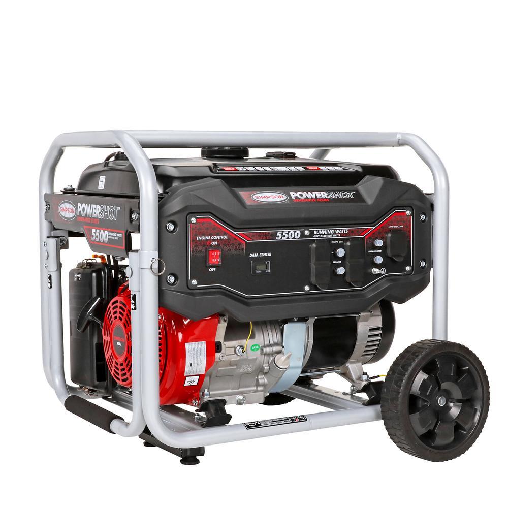 PowerShot Portable 5500-Watt Generator