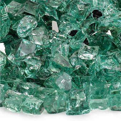 1/2 in. Evergreen Reflective Fire Glass 10 lbs. Bag
