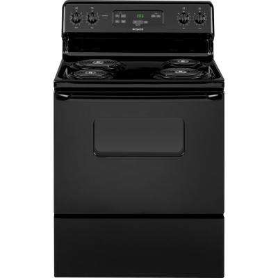 Hotpoint 30 in. 5.0 cu. ft. Electric Range Oven in Black