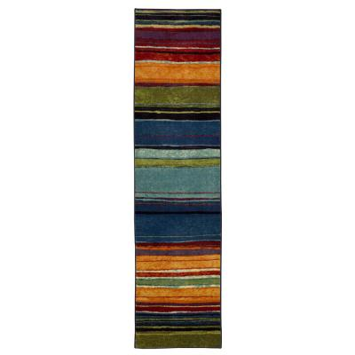 Rainbow Multi 1 ft. 8 in. x 6 ft. Striped Runner