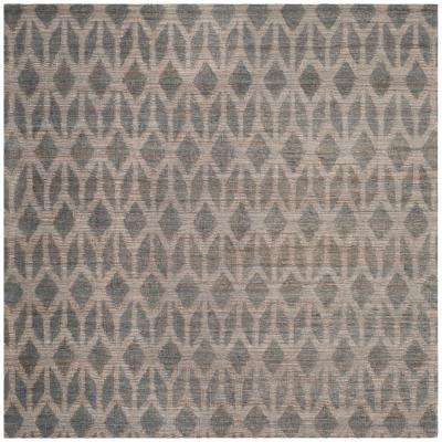 Cape Cod Gray/Gold 6 ft. x 6 ft. Square Area Rug