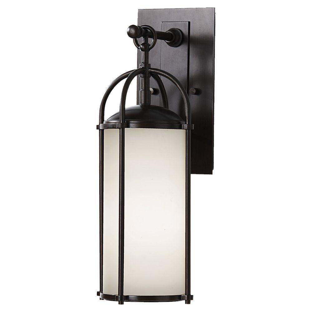 Feiss Dakota 1-Light Espresso Outdoor Wall Lantern