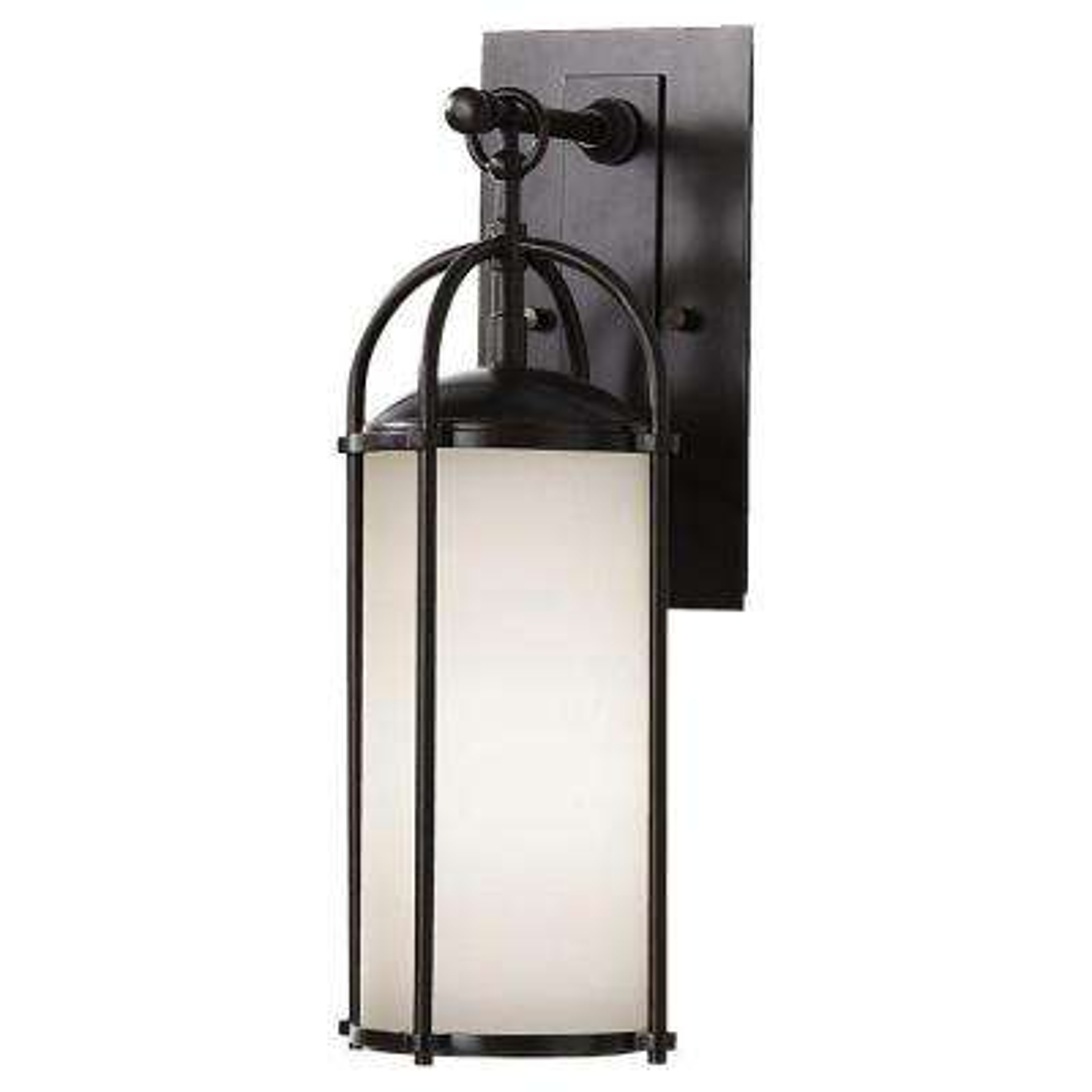Dakota 1-Light Espresso Outdoor 16.875 in. Wall Lantern Sconce