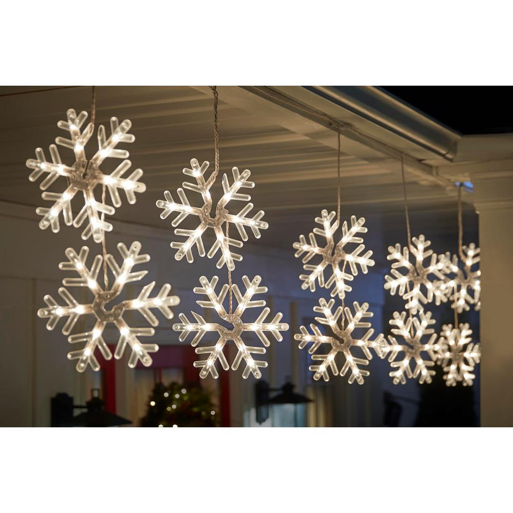 Home Accents Holiday 72 Light Clear Incandescent Snowflake