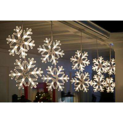 72-Light Clear Incandescent Snowflake Light (3 Snowflakes per pack)
