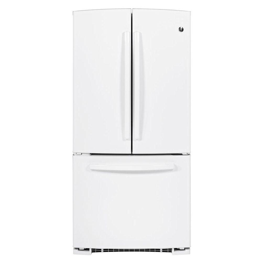 GE 22.1 cu. ft. French Door Refrigerator in White