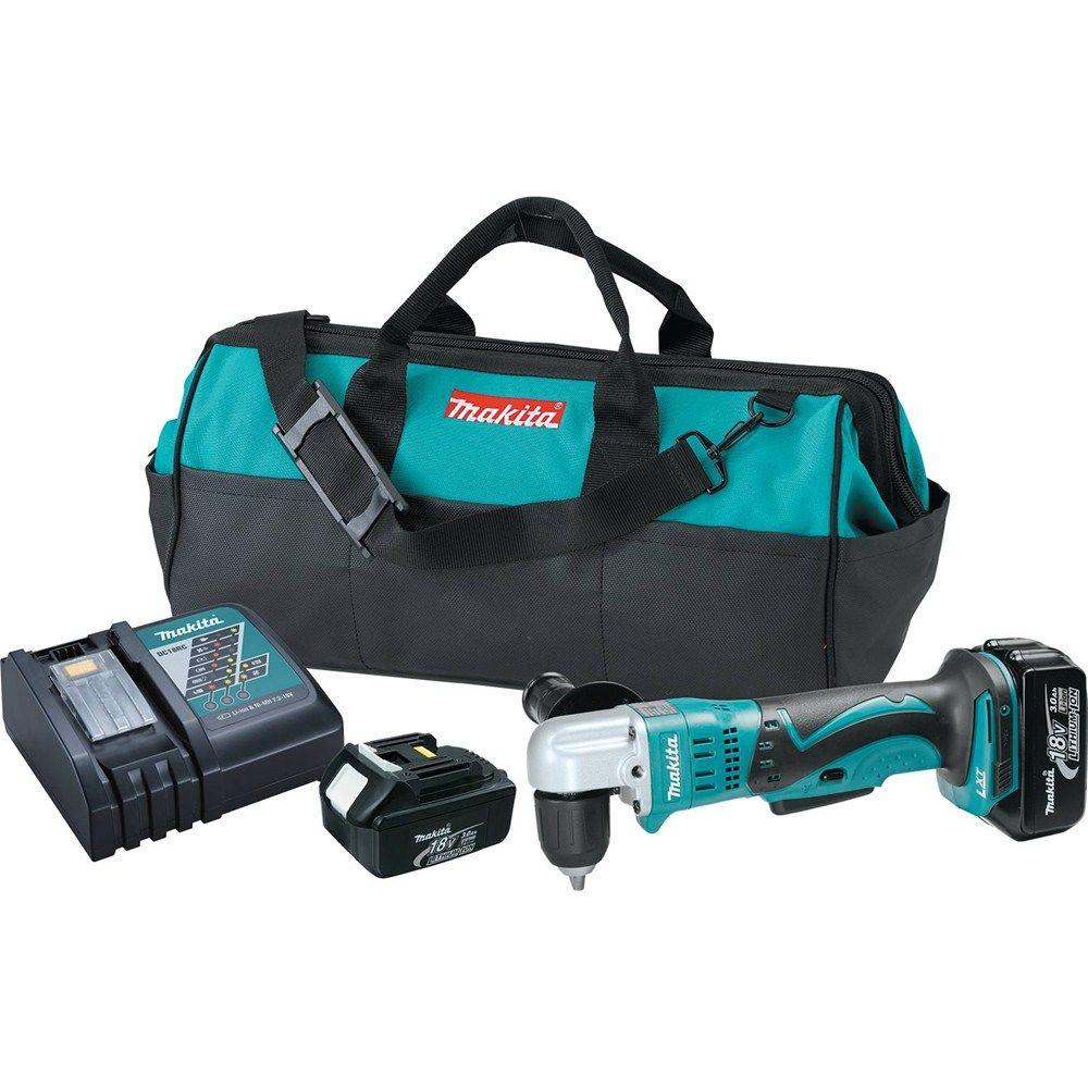 18-Volt LXT Lithium-Ion 3/8 in. Cordless Angle Drill Kit with (2)