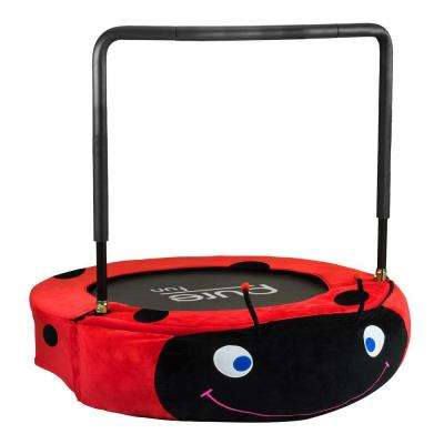 Ladybug Jumper Kids 38 in. Mini Trampoline
