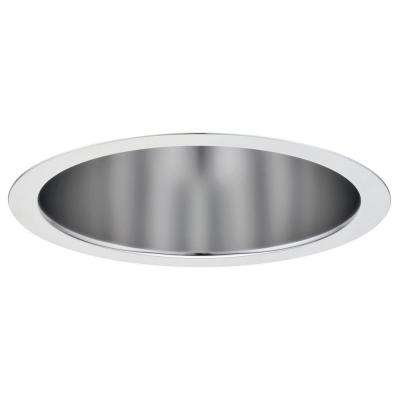 6 in. Clear Diffuse Open Reflector Compact Fluorescent Downlight Trim