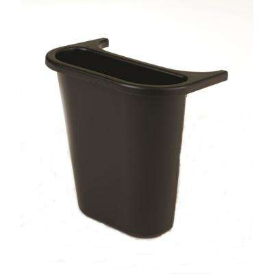 8 qt. Black Indoor Recycling Side Bin