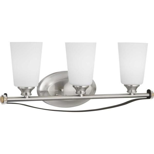 Nealy Collection 3-Light Brushed Nickel Vanity Light