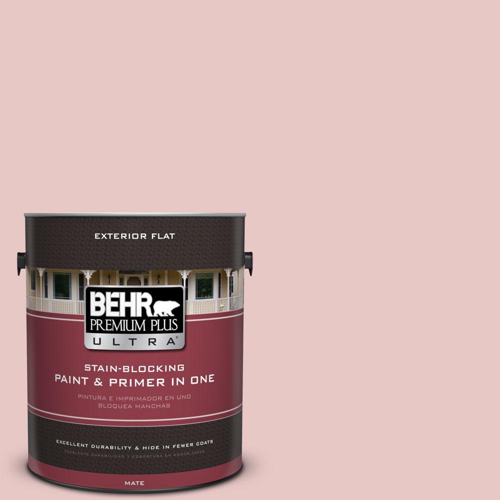 1-gal. #150E-2 Kashmir Pink Flat Exterior Paint
