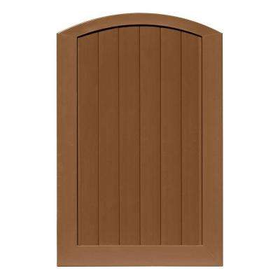 Pro Series 4 ft. W x 6 ft. H Brown Vinyl Anaheim Privacy Arched Top Fence Gate