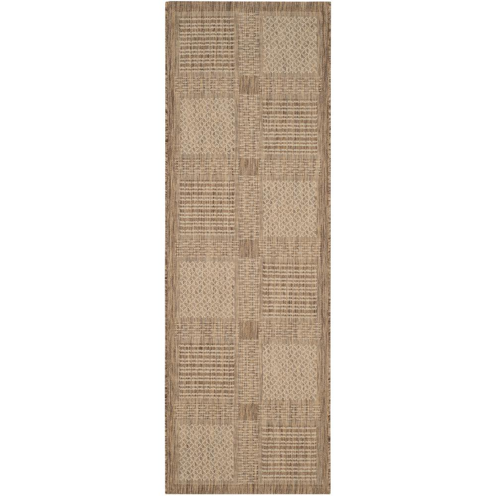 Courtyard Brown/Natural 2 ft. 3 in. x 6 ft. 7 in.