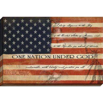 """Patriotic """"One Nation Under God"""" By Carpentree Canvas"""