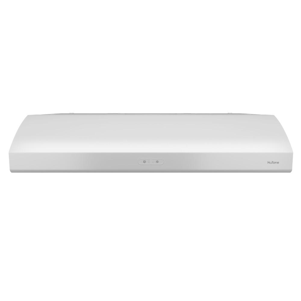nutone osmos deluxe 36 in convertible range hood in white