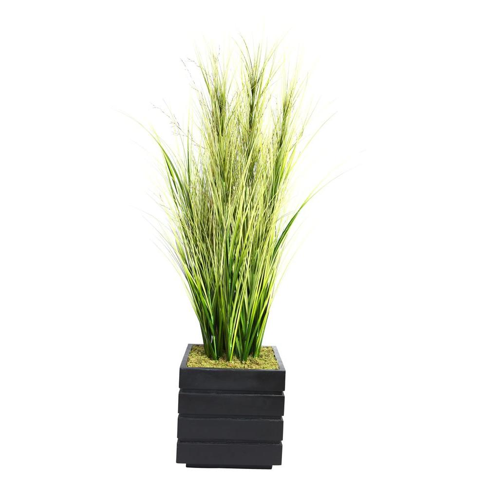 66 in. Tall Onion Grass with Twigs in 14 in. Fiberstone