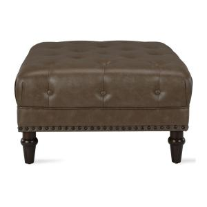 Surprising Dorel Living Carillo Taupe Tufted Ottoman With Nail Heads Pabps2019 Chair Design Images Pabps2019Com