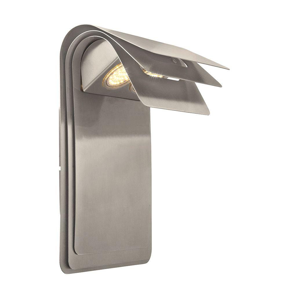 Sojo 2-Light Satin Nickel Outdoor Integrated LED Wall Light