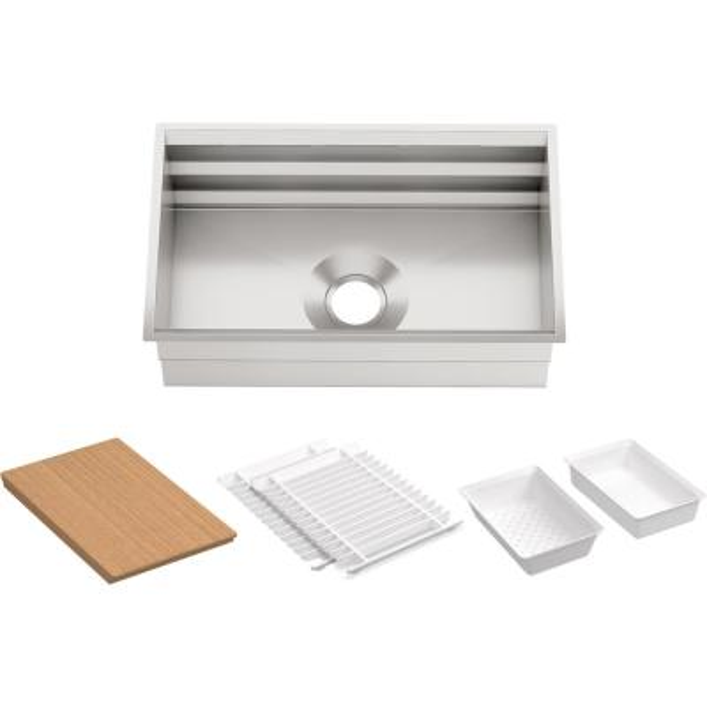 Prolific Undermount Stainless Steel 29 in. L Single Bowl Kitchen Sink