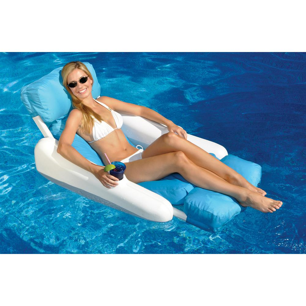 Swimline SunSoft Sunchaser Swimming Pool Floating Lounge Chair  sc 1 st  The Home Depot & Swimline SunSoft Sunchaser Swimming Pool Floating Lounge Chair-10025 ...