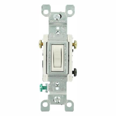 15 Amp 3-Way Toggle Switch, White (6-Pack)