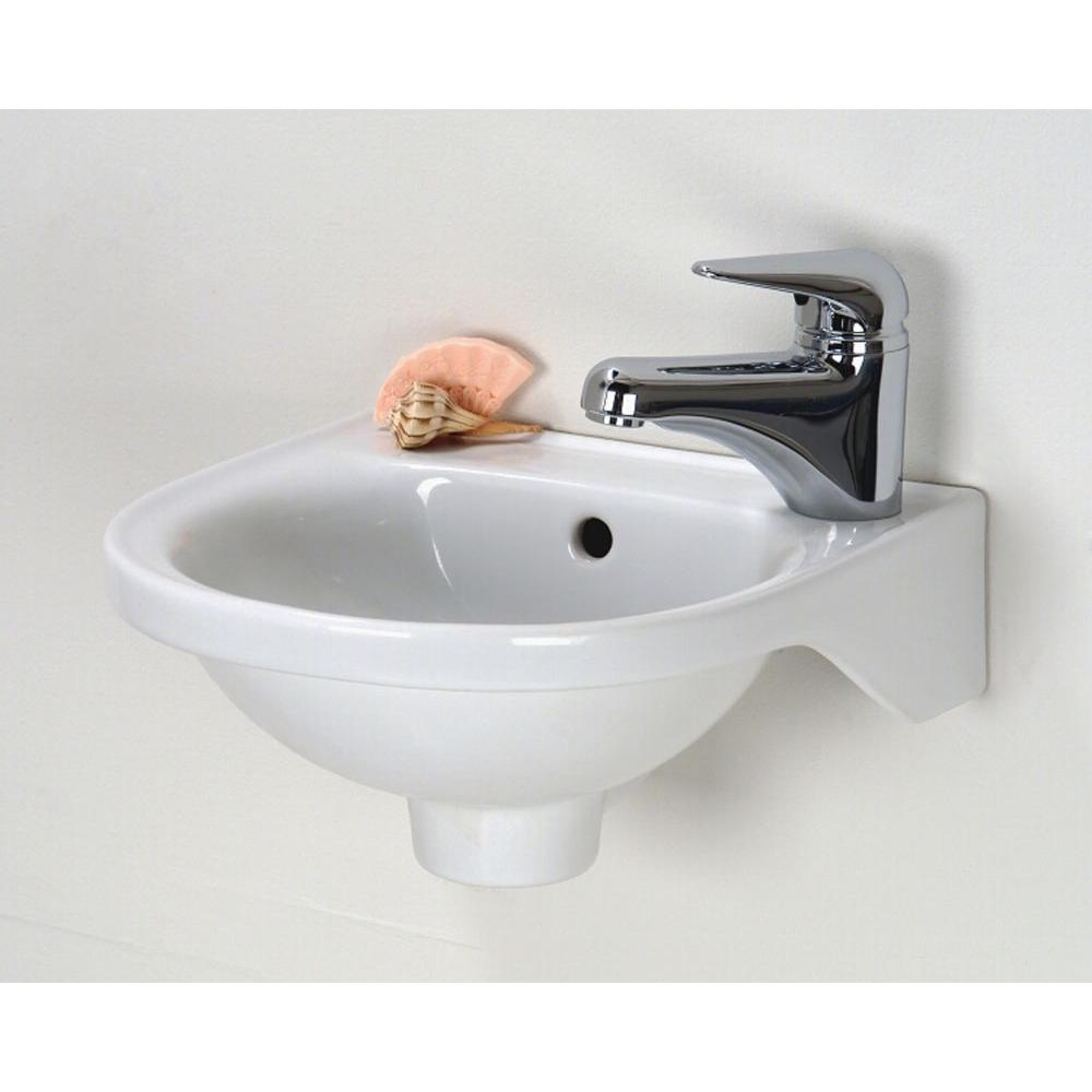 Rosanna Wall Mounted Bathroom Sink In White 4 521wh The Home Depot