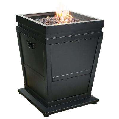 20 in. Gas Outdoor Fireplace 30000 BTU in Black