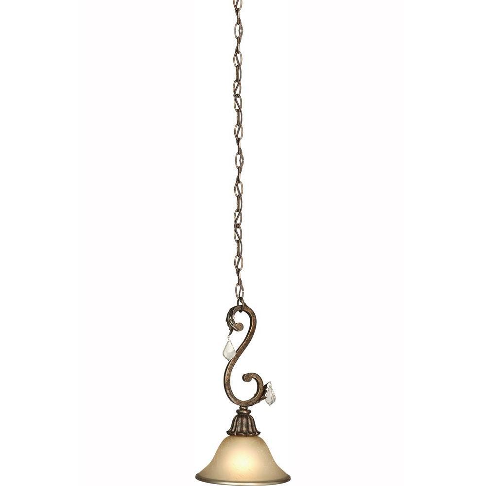 ARTCRAFT Pardina 1-Light Multi-Tone Bronze Mini-Pendant