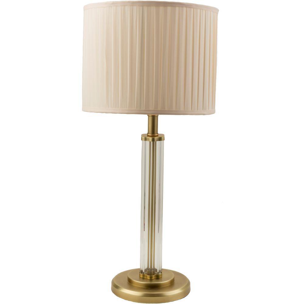Benardos28 in. Antique Brass Indoor Table Lamp