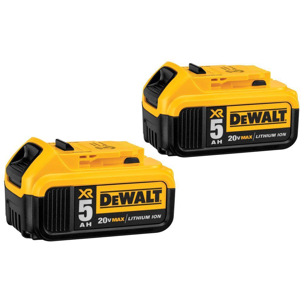 DEWALT 20-Volt MAX XR Lithium-ion Premium Battery Pack 5.0Ah (2-Pack)