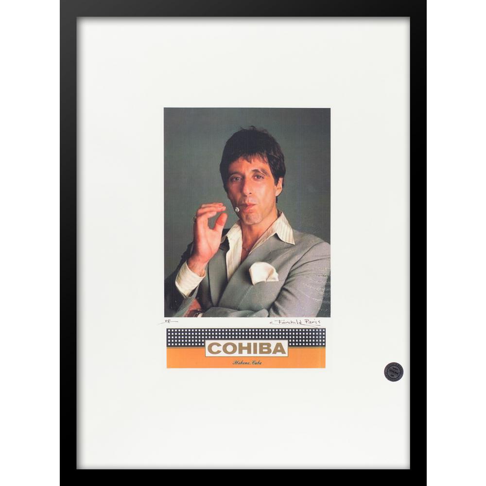 """30 in. x 22 in. """"Al Pacino"""" by Fairchild Paris VIP Cohiba Cigar Series"""" Framed Print Ad Wall Art"""