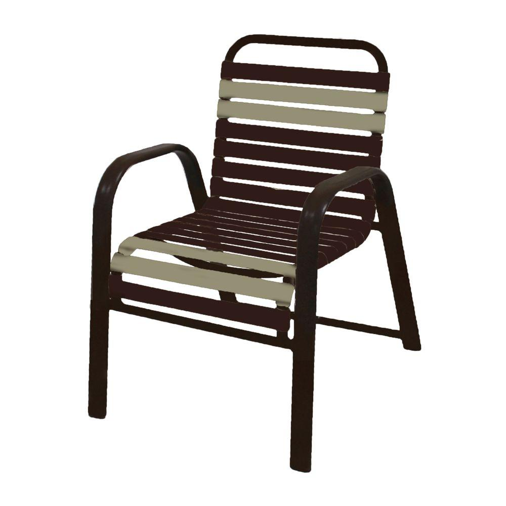 Marco Island Dark Cafe Brown Commercial Aluminum Patio Dining Chair with