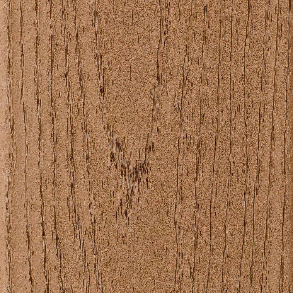Trex Enhance 1 in. x 6 in. x 16 ft. Trex Beach Dune Grooved Edge Capped Composite Decking Board